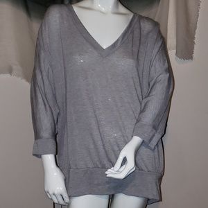 Sweaters - ☆☆☆ 5 for $20! XL NY&Co grey v neck sweater